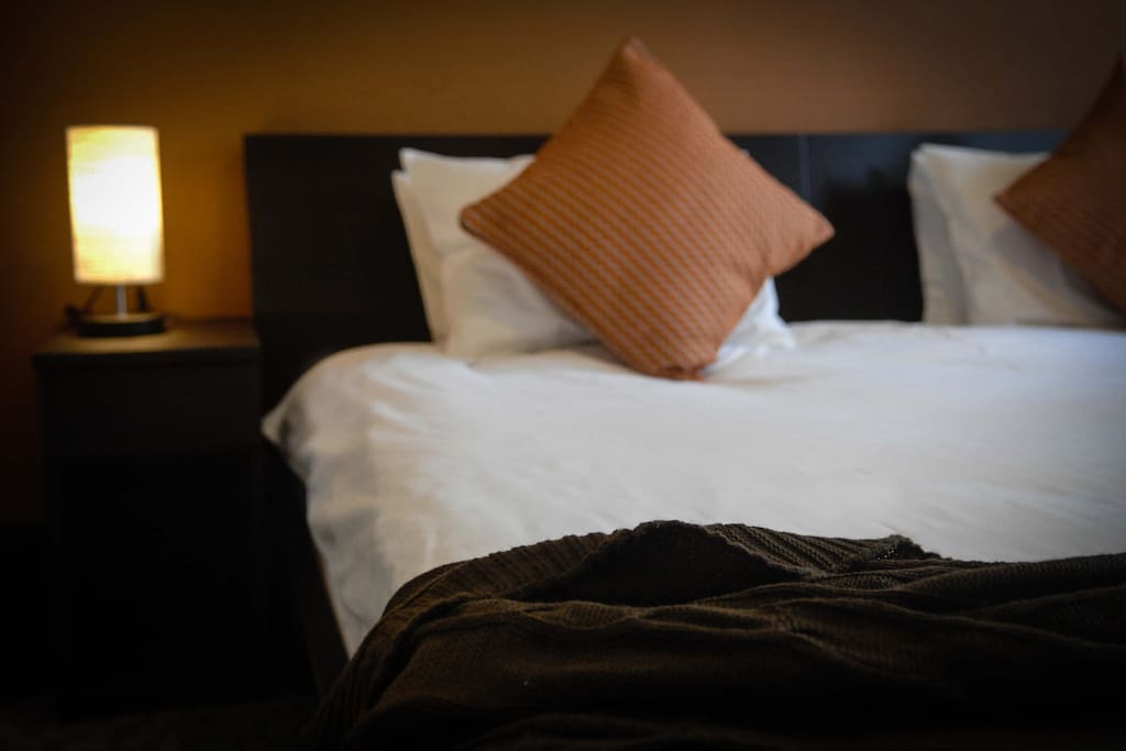 The two bedrooms are equipped with fluffy pillows, soft duvet and high quality thick mattresses.