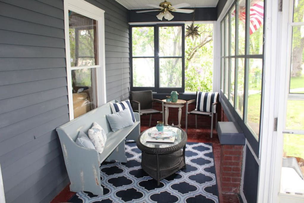 Plenty of Space for Everyone to Enjoy on the Porch