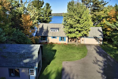 The Point & Cottage with Lake Superior Dock and unforgettable views of Grand Island (Average rate $4