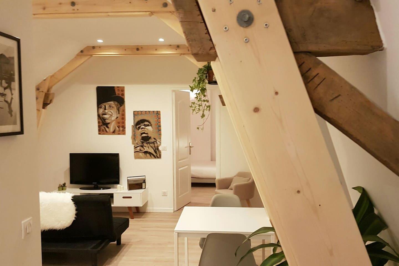Les voyageurs disent très souvent que l'appartement est plus grand qu'il ne parait sur les photos.