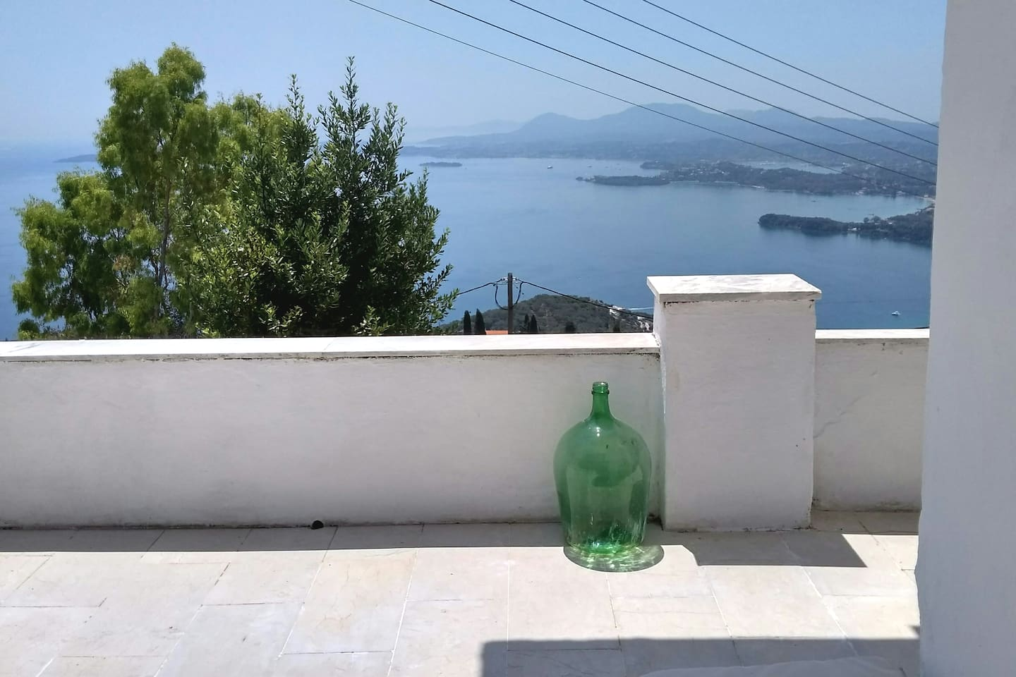 Panoramic sea view from the main terrace of Afrodite's  cottage