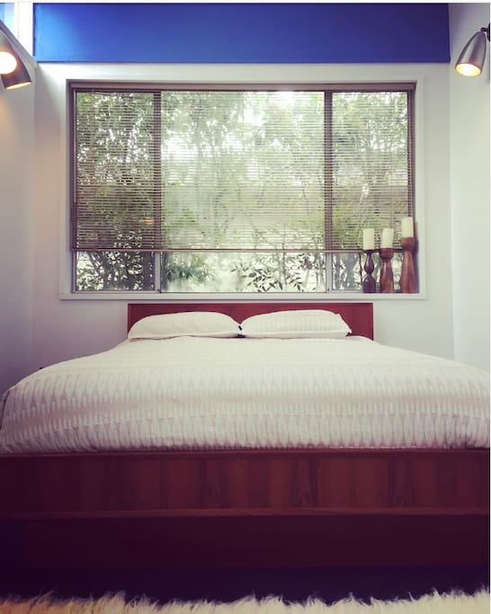 Bedroom view in our guest space.