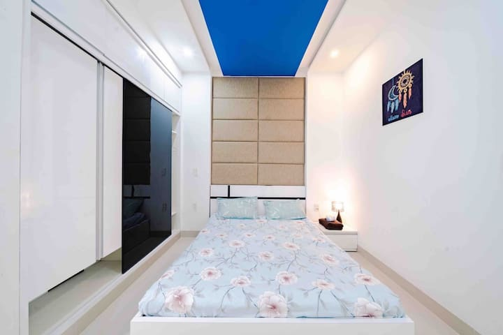 The Bedroom 2 is designed with two windows and equipped by King size bed, large closet, air-conditioner,  bathroom inside, hot water machine, hair dryer.