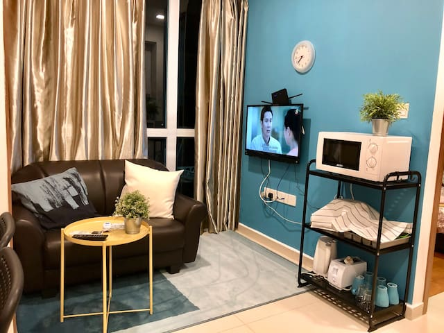 Living room with LED TV
