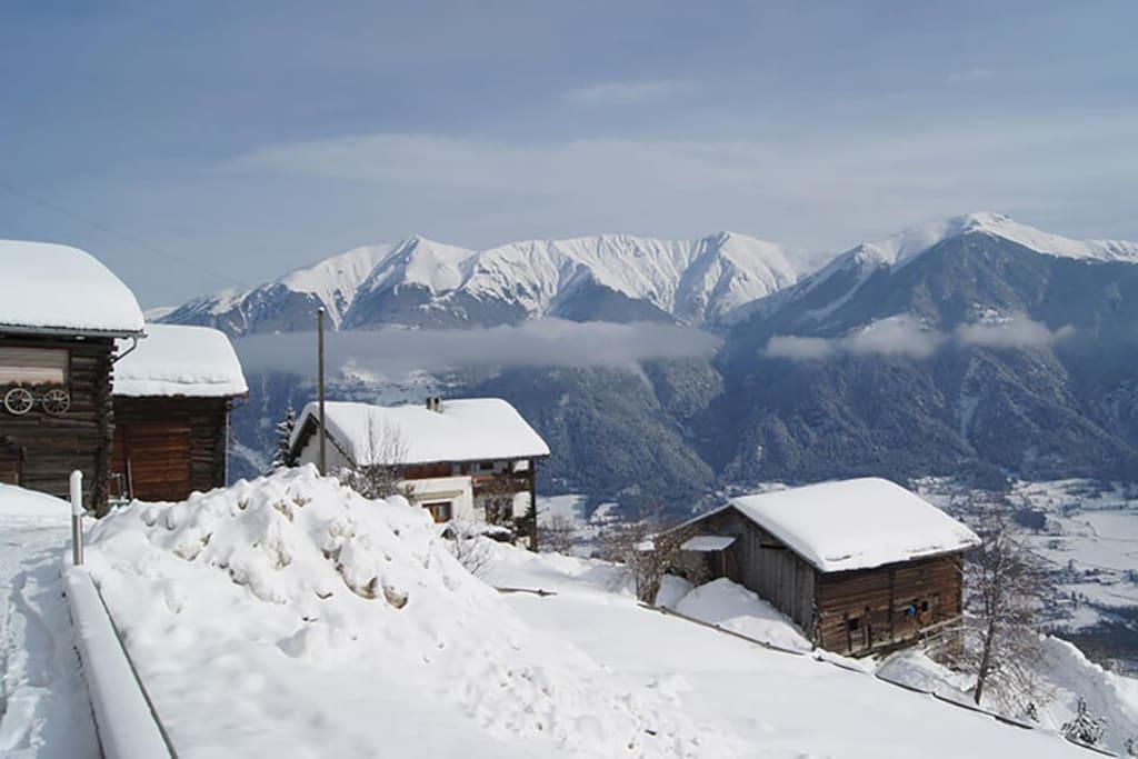 Aussicht auf den Berg Scalottas Lenzerheide