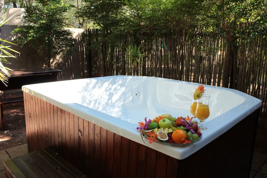 Jacuzzi at Chalet 1