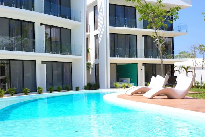Luxury Big Studio + Netflix + Pool + WIFI + Bikes! - Tulum - Apartmen