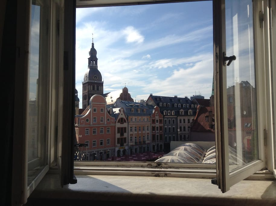 view from bed room ,old city view