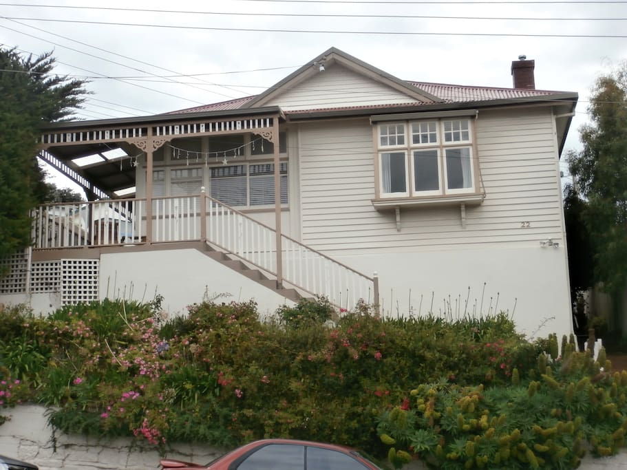lovely character home built in 1914 with street parking. There is a side entrance if stairs are a problem