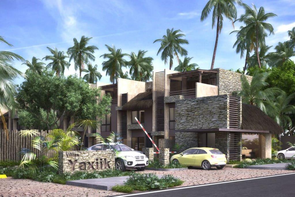 Luxury eco chic villa 3 floors 3 br near beach villas for Villas tulum