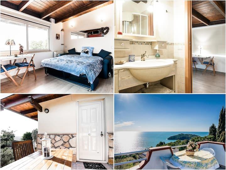 ⭐Sea view terrace cozy studio