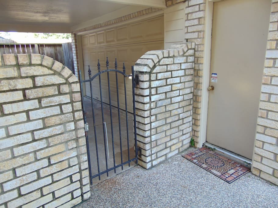 Private entrance leading to Studio Apartment.