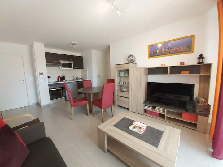 ❤️Spacieux T2-4 pers-Toulouse-Pkg-balcon❤️