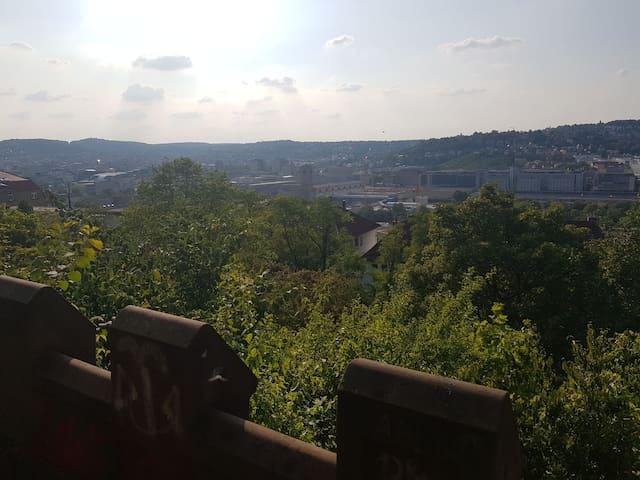 """Nur paar Gehminuten entfernt - Panorama Aussichtspunkt """"Uhlandshöhe"""""""
