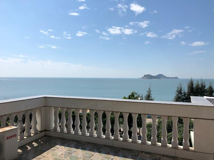 樱子民宿 东山岛 澳角村 独栋 别墅 海峡艺术馆    20米就是沙滩大海 海景3床