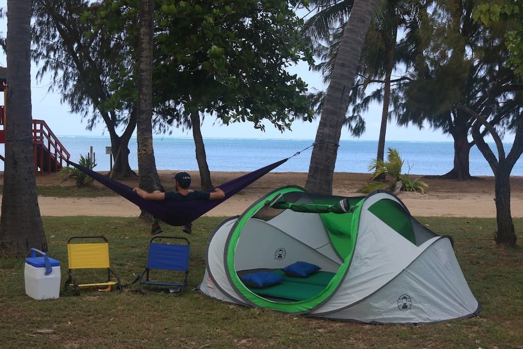 Seven Seas Campsite, Fajardo, Puerto Rico. Not everything in this picture is included on this package.