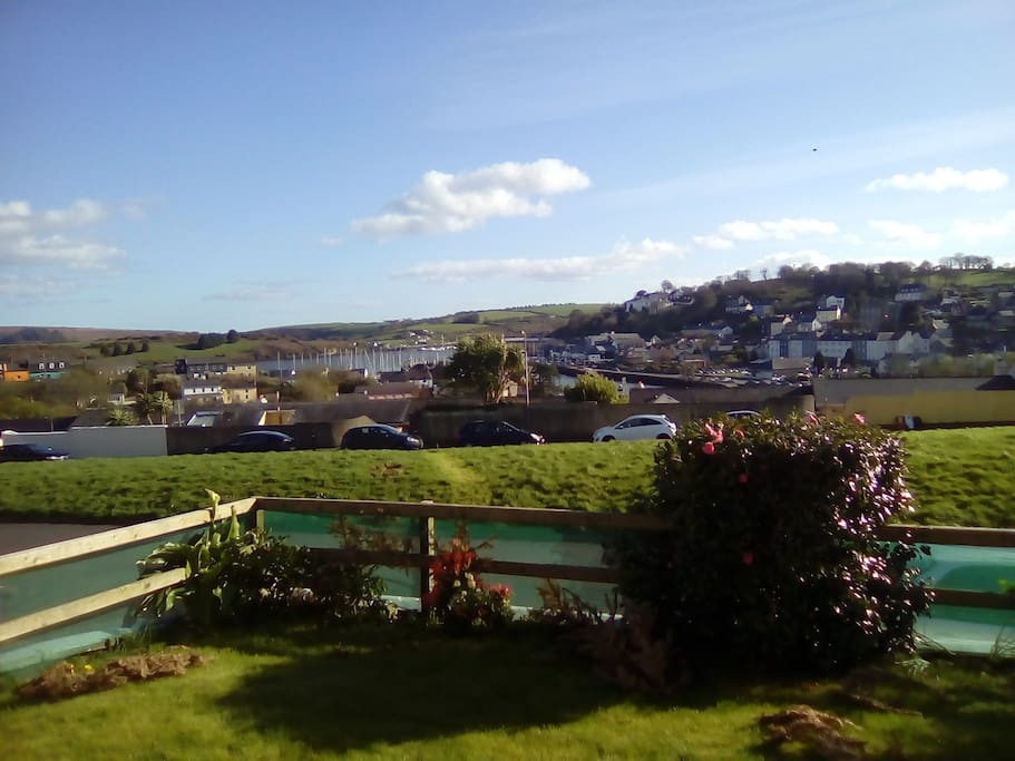 View of Kinsale Harbour. South facing  front garden with panoramic views.