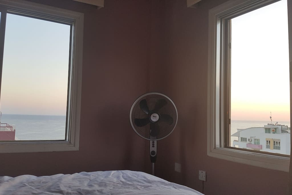 Sun rise view from the bed