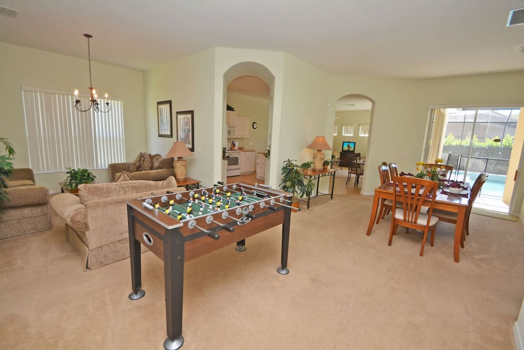 Family Living Area with game table