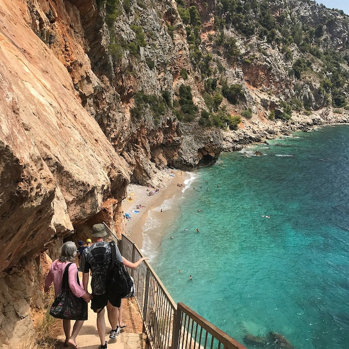 The ultimate bliss under the cliffs , in