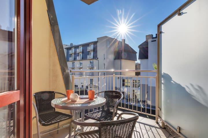 Sunny Studio with balcony ☼ Róża Wiatrów 40 ☼