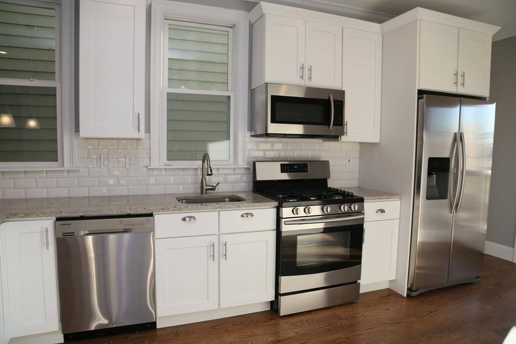 dishwasher , stove, microwave, fridge
