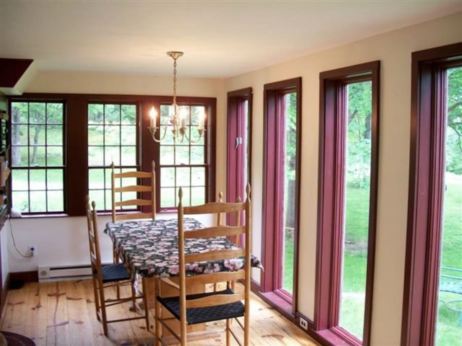 Large windows help you stay connected with the outside....