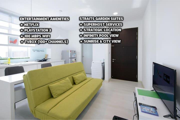 ★Couples Getaway XXI★ Cozy Suite Sleeps 1~4 | 城市套房