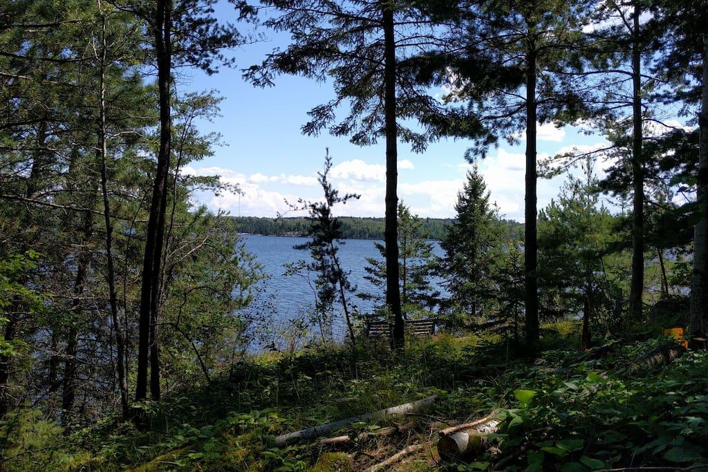 Lake view from below the verandah