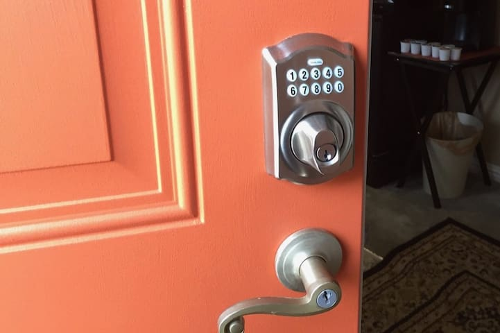Coded door entry provides easy access for arrival and departure