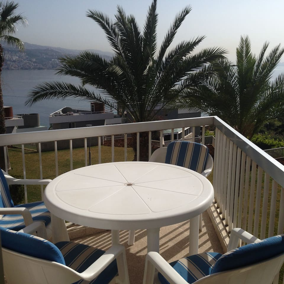Great view of the sea and the Jounieh bay from the blacony