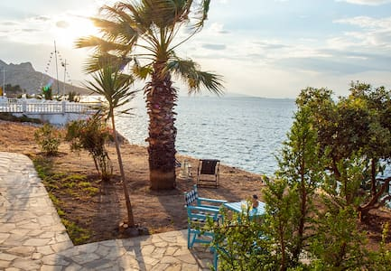 Amazing flat with garden right in front of the sea - Perdika