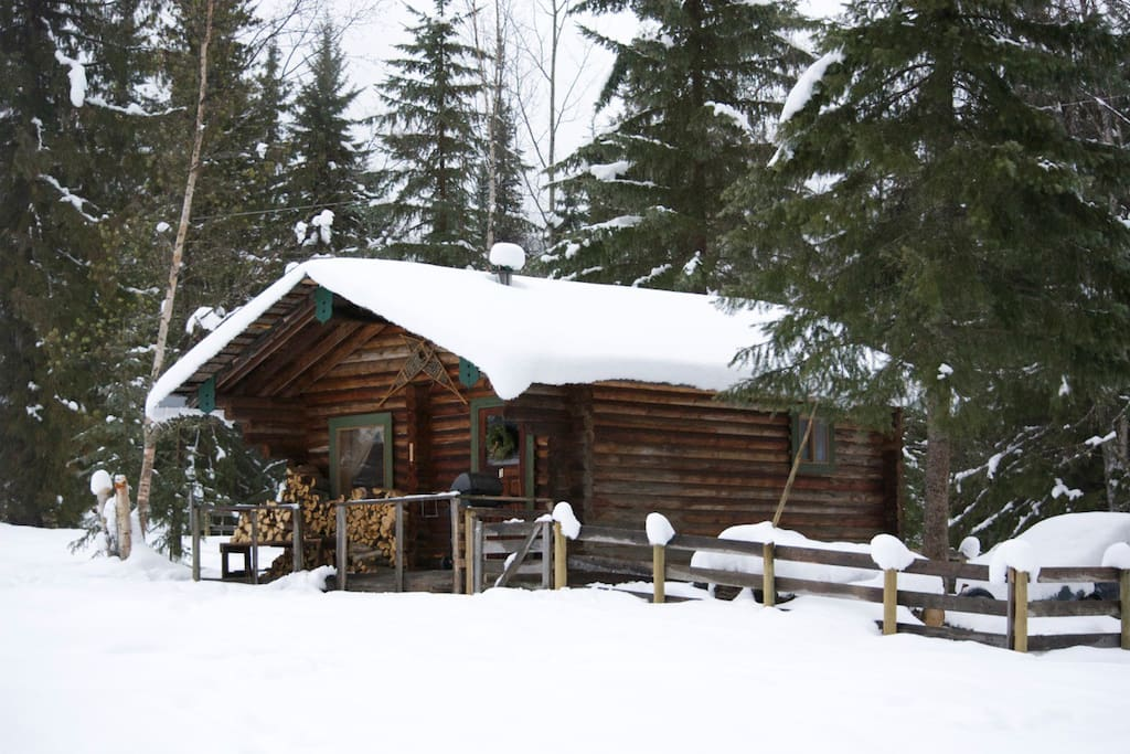 Cedar Cabin in winter