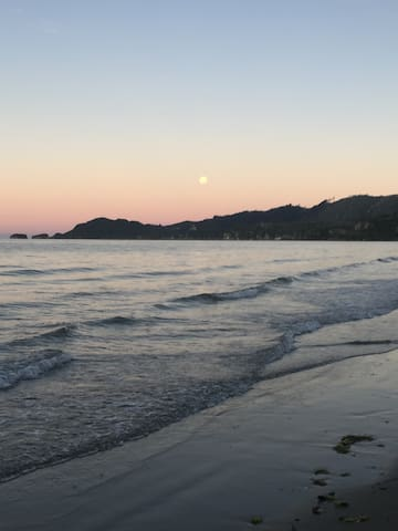 Full moon at Pohara beach