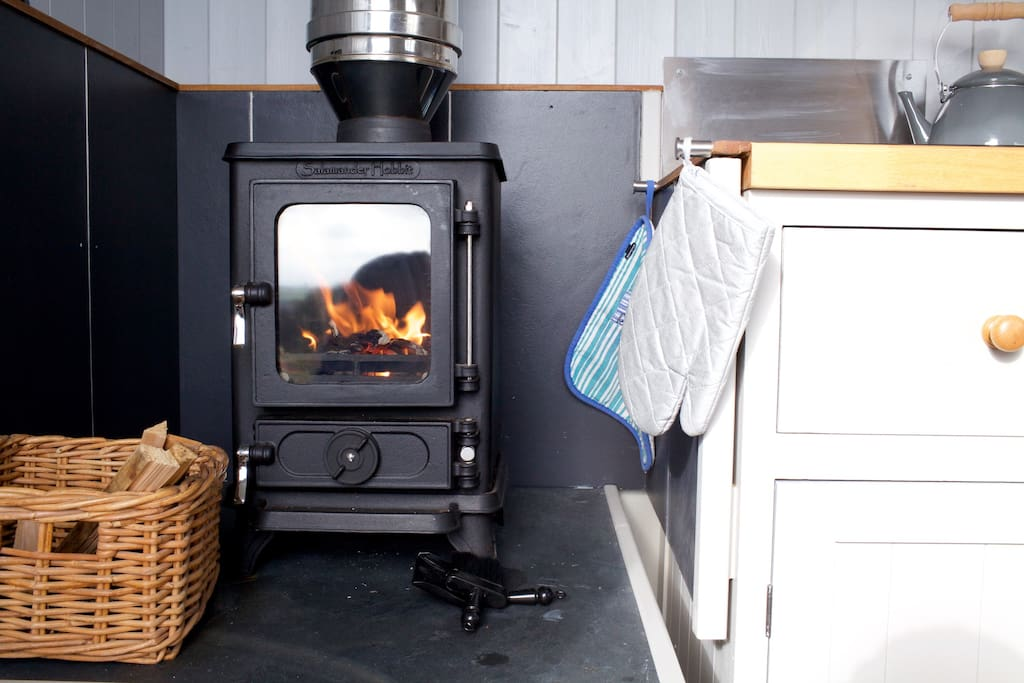 The Woodburner to keep you cosy and warm