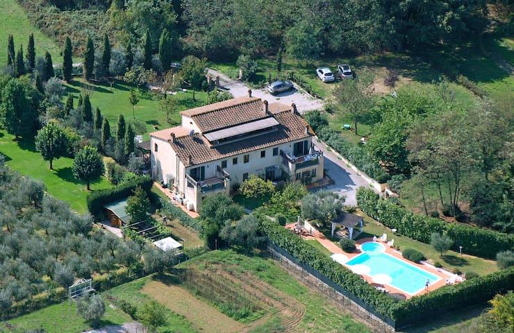 vista aerea del casale