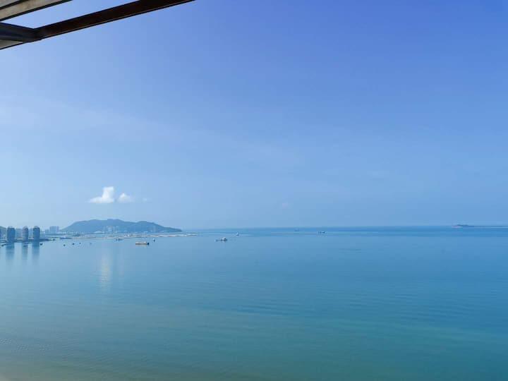三亚湾椰梦长廊\高层躺床上看海(看落日更美)\南海观音\天涯海角\可免费接机