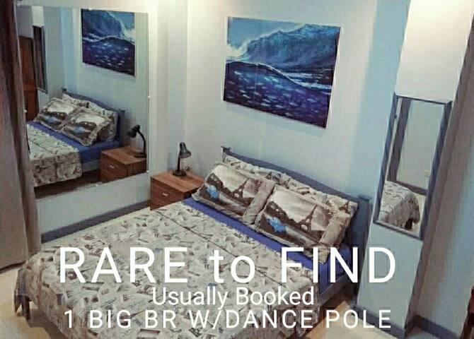 """Joy"" DANCE POLE & Mirrors - 1 Big BR @ Great Loc."