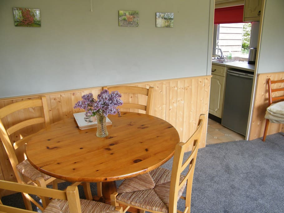 The dining/living area