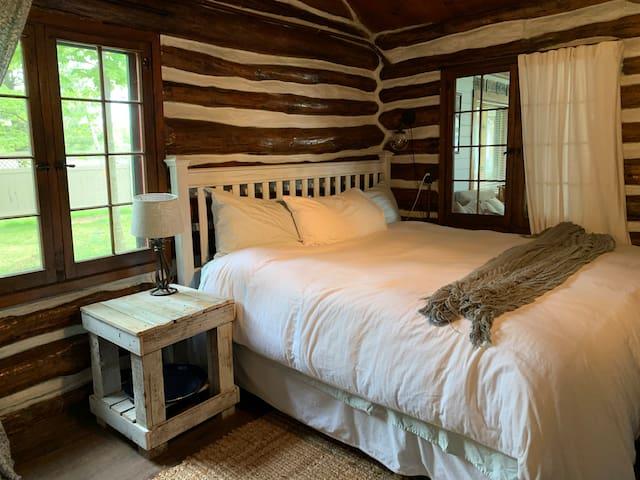 Log Cabin bedroom, king bed