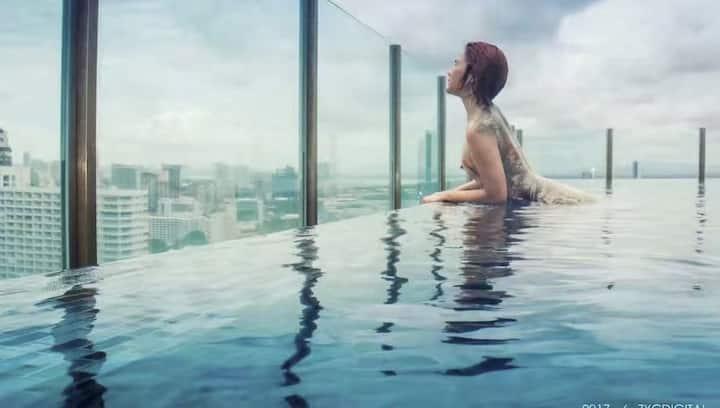 芭提雅市中心天际泳池,豪华五星级公寓