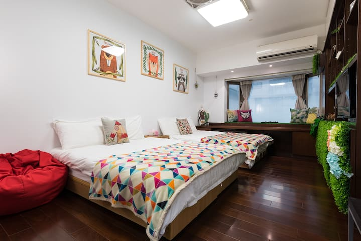 Taipei Main Station/MRT 2min/Forest Cabin(2-4ppl)