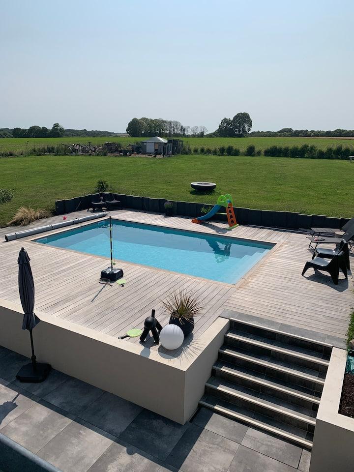 maison familiale avec piscine