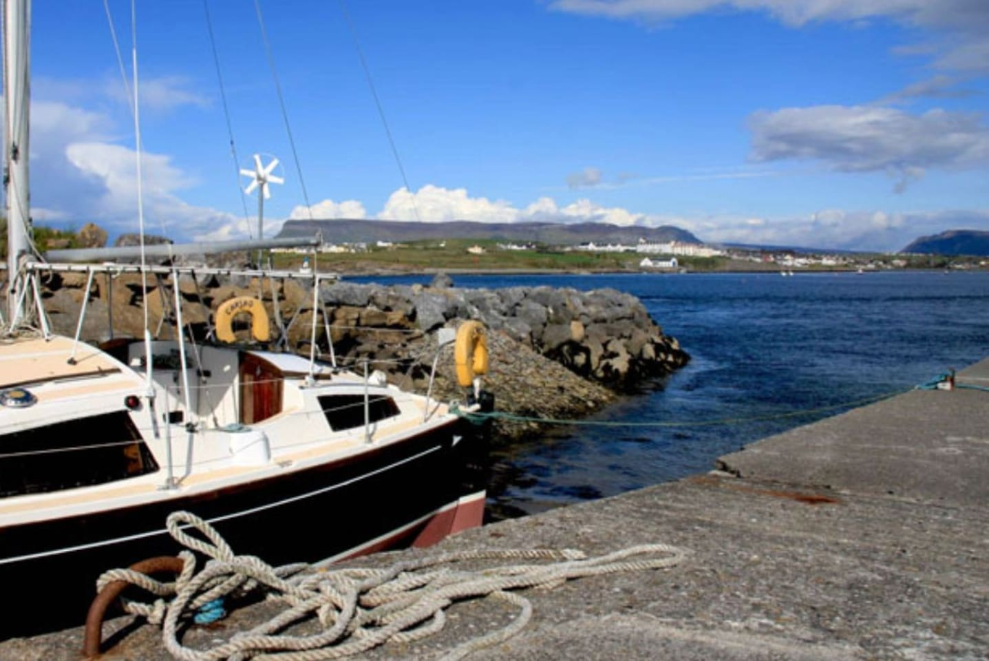 View from the pier to the mainland at Rosses Point