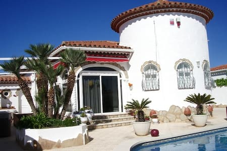 Maison avec piscine à 800m mer - Miami Platja