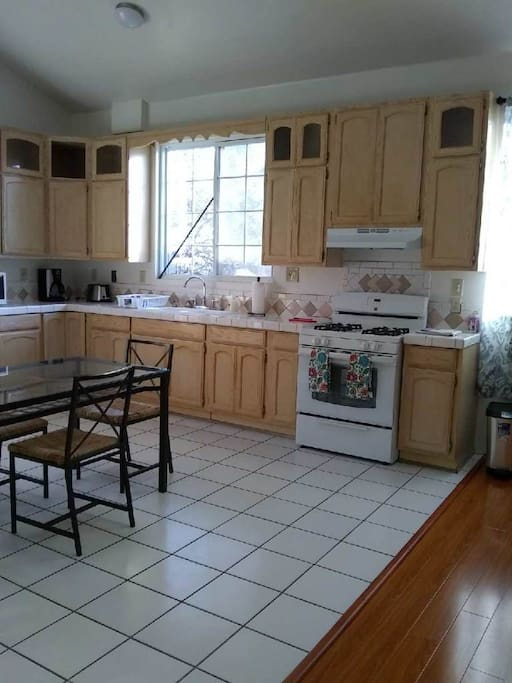 Kitchen with brand new stove range