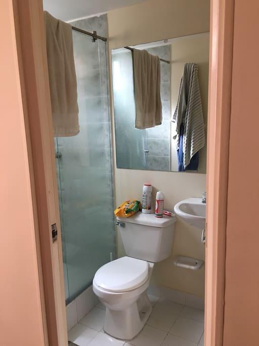 Baño privado de los huéspedes