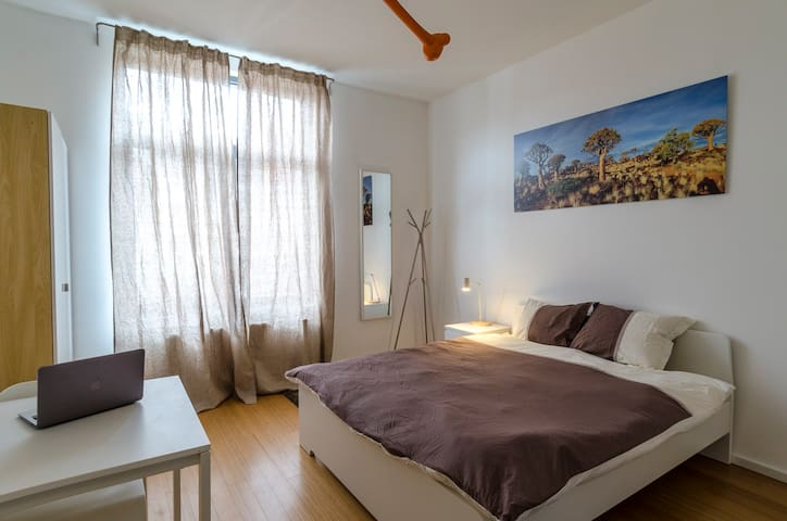 Cosy big bedroom in modern house in Brussels - Ixelles