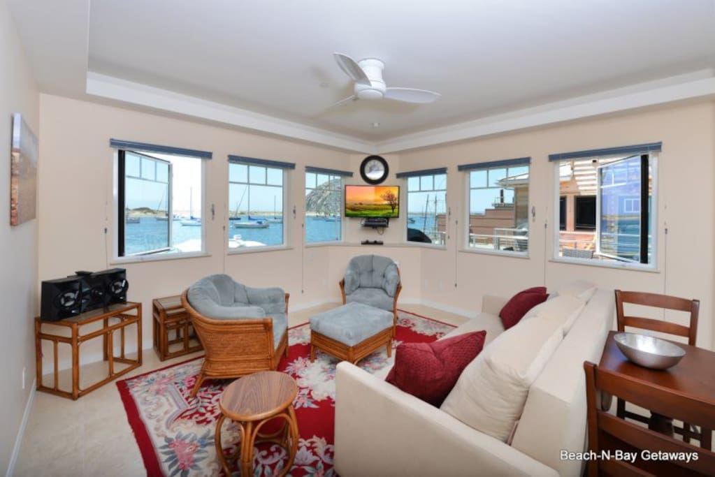 This is the amazing view you will enjoy from the living room of LaRoche 1  This unit accepts pets and is ADA compliant.