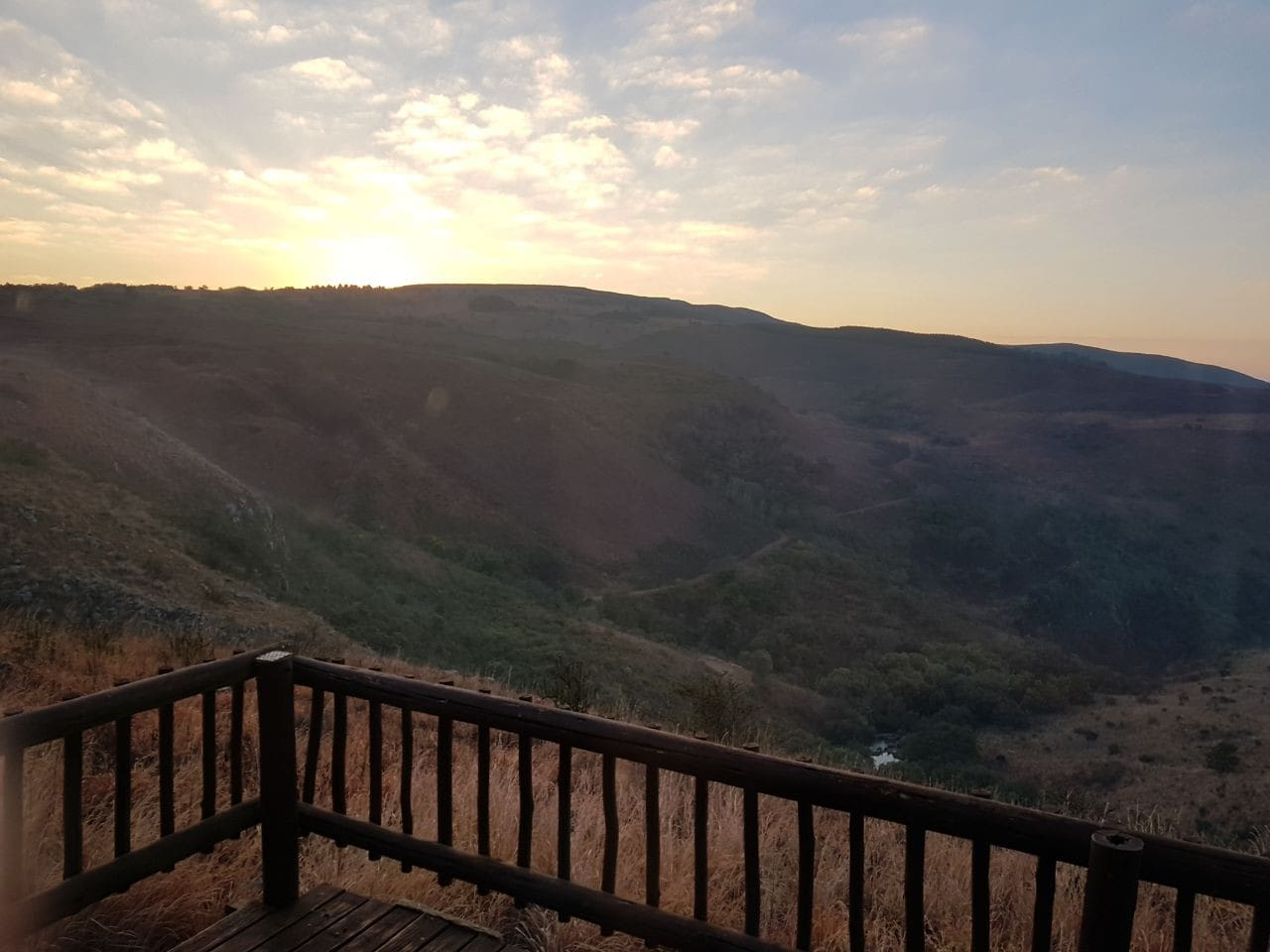 View at sunrise